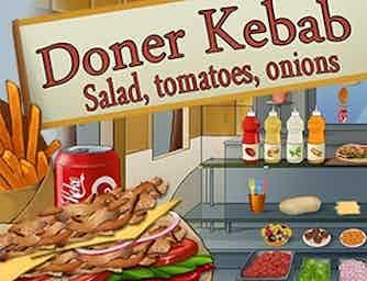 Doner kebab  salade  tomates  oignons