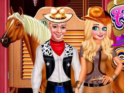 Frozen couple cowboy style