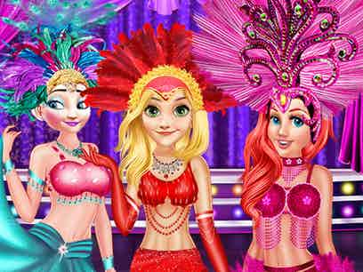 Princess as los vegas showgirls