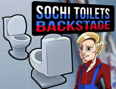 Sochi toilets  backstage